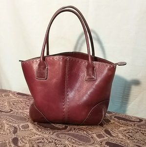 Fossil 1954 satchel thick leather crossbody bag